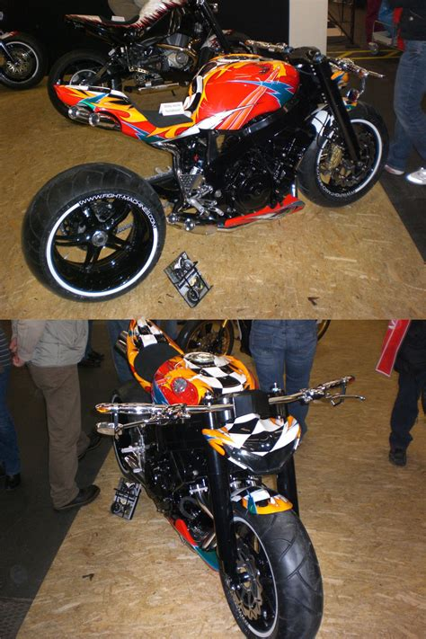 Verschiedene Reifenmarken Motorrad by Schr 228 Glage Mit Breiten Schmalen Reifen Biker Stammtisch