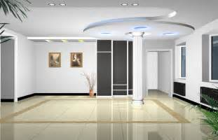 hall interior with pillar 3d house free 3d house