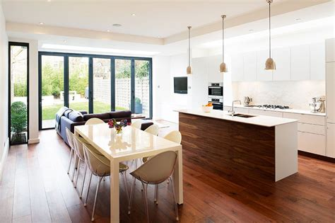 kitchen diner extension ideas open plan kitchen diner with central island dining
