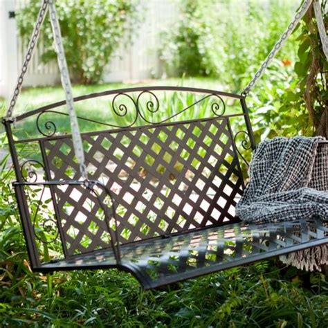wrought iron outdoor swing coral coast wildwood 4 ft wrought iron porch swing