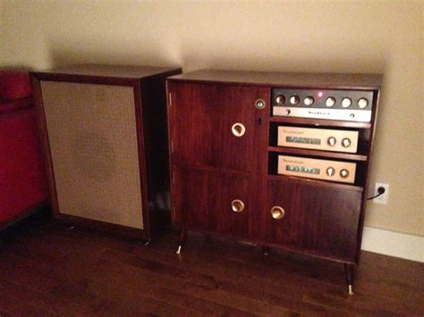 heathkit complete stereo system w speaker and wood