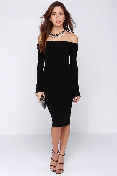 Sassy Black Dress   Off the Shoulder Dress   Sweater Dress   $47.00