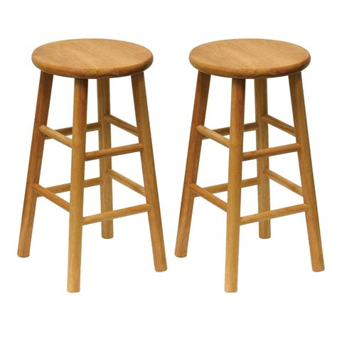Wood Bar Stool Set by Winsome Wood Wood 24 Inch Counter Stools Set