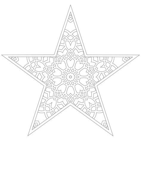 christmas tree star coloring pages