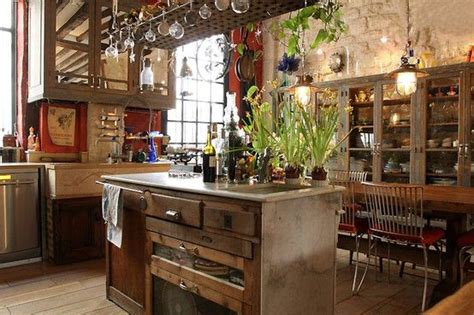 bohemian kitchen design rustic bohemian style evidently that s what i m drawn