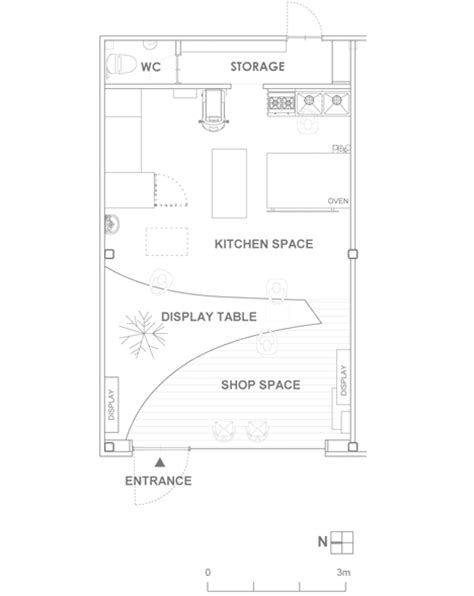 floor plan of a bakery bread table bakery by airhouse design office bakeries