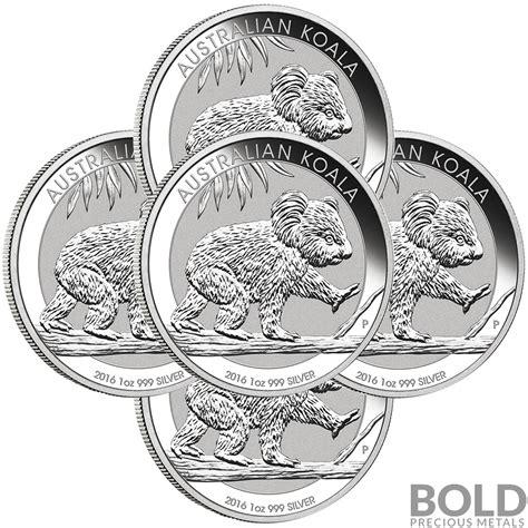 Australian Koala Silver Coin 2016 2016 silver 1 oz australia perth koala 5 coins ebay
