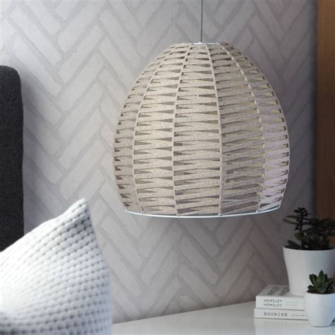 Woven Ceiling by Oatmeal Woven Dome Ceiling Pendant By Quirk