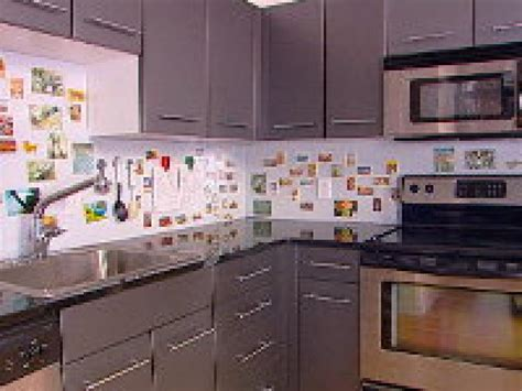how to add backsplash how to creating a magnetic backsplash hgtv