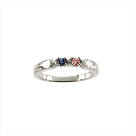 sterling silver xo mothers rings with classic styling and