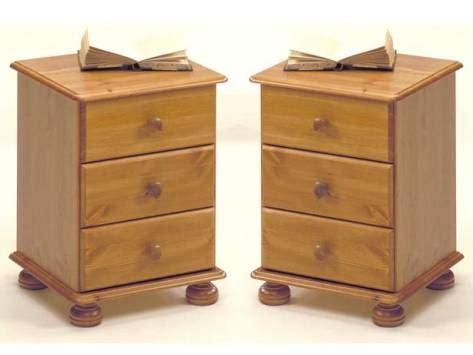 two richmond pine 3 drawer bedsides richmond bedroom