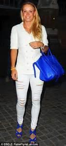 katherine jenkins plays it safe in skinny jeans but