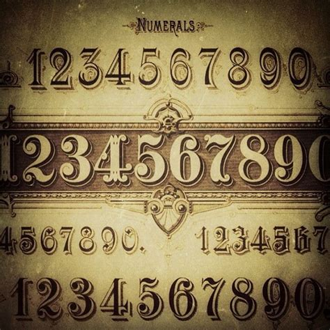 Victorian Tattoo Lettering | 160 best images about calligraphy numbers on pinterest