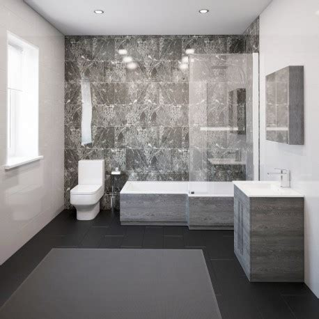 Modern Bathroom Suite by Thorpe Complete Modern Grey Ash Bathroom Suite With Right