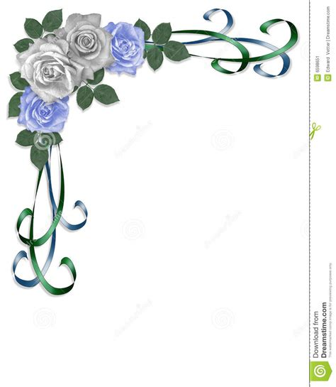 Wedding Blue Border Design by Blue Flower Clipart Blue Wedding Border Pencil And In