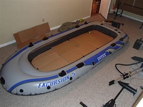 inflatable boat with wood floor he couldn t afford a boat but what he did to an