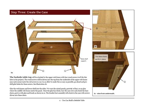 woodworking plans night table plans diy machinist