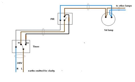 outside lights on a timer wiring diagram home lighting