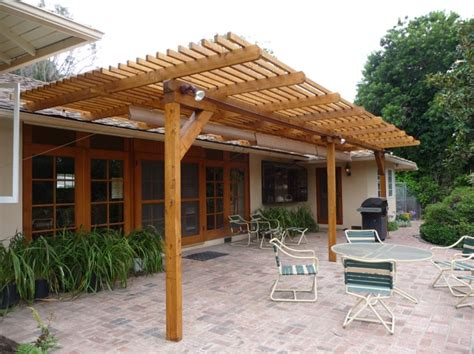 Timbersil 174 Glass Wood Patio Trellis Pacific Palisades Wood Patio Designs