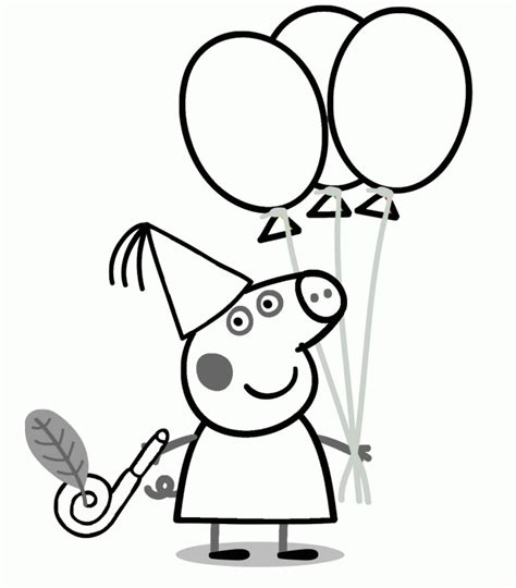 peppa pig birthday party coloring pages peppa pig coloring pages coloring home