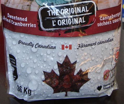 fruit d or canada fruit d or cranberries unclear country of origin don