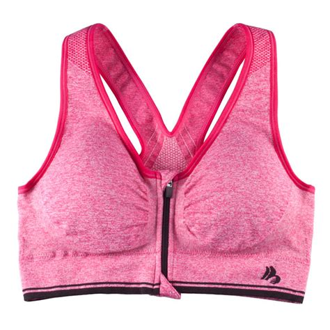 easy comforts easy comforts style zipper sports bra with padding easy
