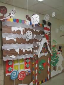 gingerbread house winter classroom door