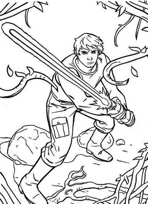 coloring pages wars luke skywalker wars coloring pages luke skywalker coloring home