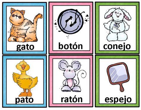 ejemplos de rimas para ninos rimas tarjetas de palabras que riman spanish rhyming