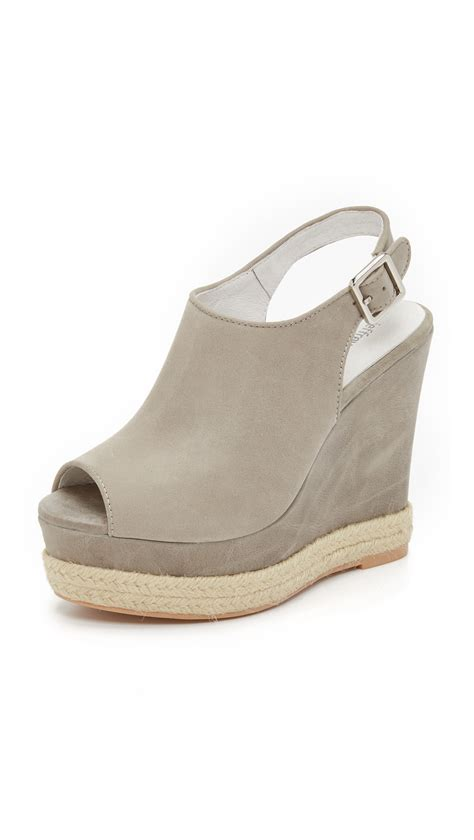 jeffrey cbell wedge sandals in gray lyst