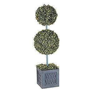 battery lit artficial topiaries new wilson fisher large 35 quot topiary lighted clear led outdoor tree