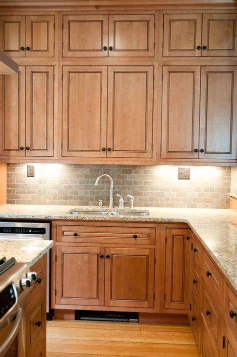 Kitchen Cabinets Maple Built In Maple Hutch Inset Cabinets Vintage Home