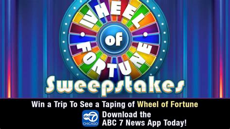 Wheel Of Fortune Sweepstakes - chicago week on wheel of fortune abc7chicago com