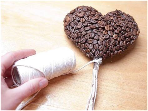 DIY birthday gift idea for coffee lovers  Heart topiary and coffee mug