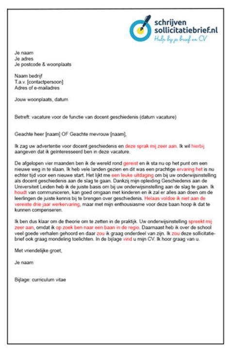 Solliciteren Met Een Cv Voorbeeld Onderwijsassistent schrijven sollicitatiebrief slecht voorbeeld een