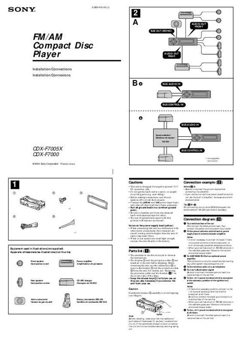 sony cdx gt35u wiring diagram wiring diagram