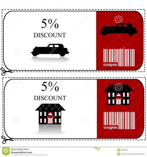 car and house insurance car insurance and house insurance gift voucher royalty free stock images image 21816619