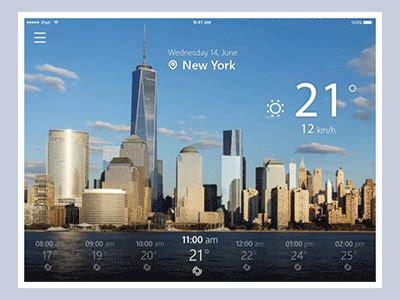 weather app animation  tubik dribbble dribbble