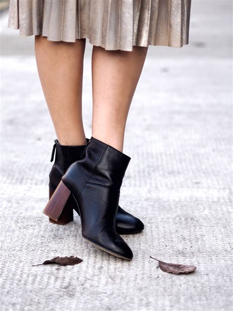 new office ankle boots and new winter hair at sassoon