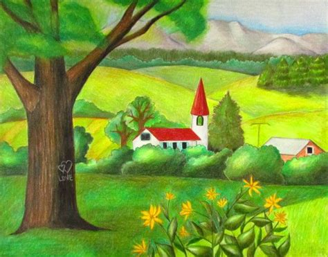 draw landscapes in colored pencil the ultimate step by step guide books how to draw a simple landscape using colored pencils