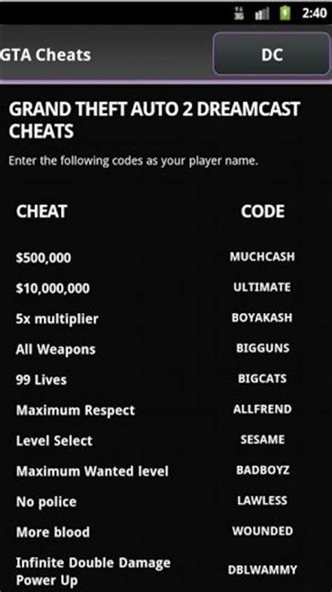 gta cheats app gta cheats app 1 0 android free mobogenie - Cheats App For Android