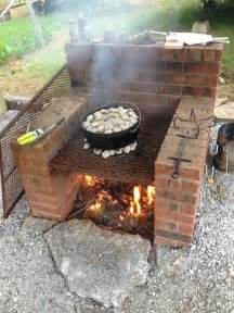 brick bbq pit smoker plans fire pit design ideas