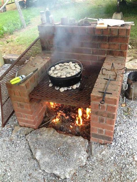backyard barbecue pit brick bbq pit smoker plans pit design ideas