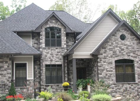 gray stone house european cobblestone stonehouse solutions