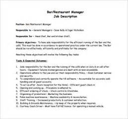 Kitchen Manager Description by Restaurant Manager Description Templates 10 Free