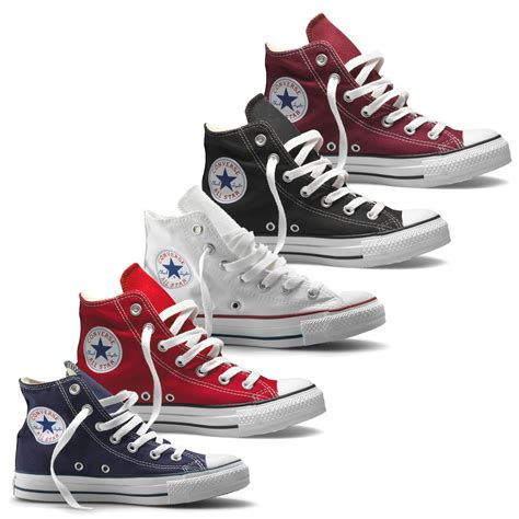Convers Higt converse chuck all hi top canvas trainer boot maroon navy white adaptor clothing