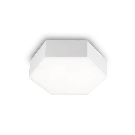 hexagonal led flush ceiling wall light white lighting