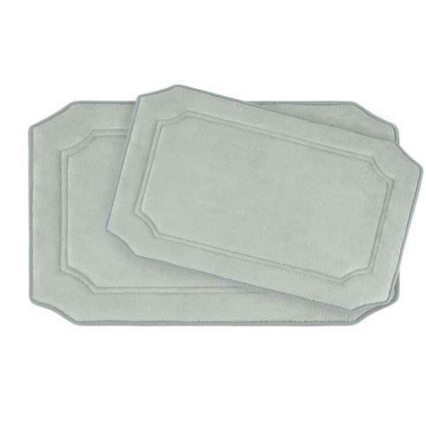 Bath Mat Sets Grey Bouncecomfort Walden Light Gray Memory Foam 2 Bath