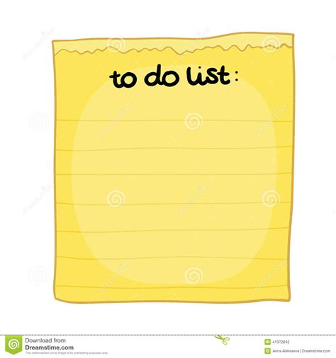 to do for to do list stock vector image 41372842