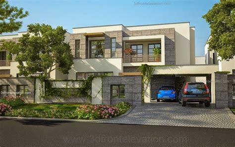 3d Front Elevation Com New 1 Kanal Contemporary House | modern house plans house designs in modern architecture